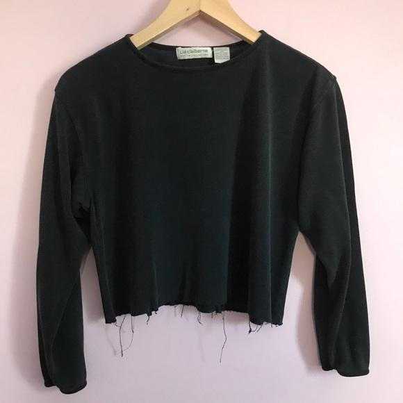 6aaa6e914e942 Liz Claiborne Tops - Last chance! Vintage Silk Cropped Shirt